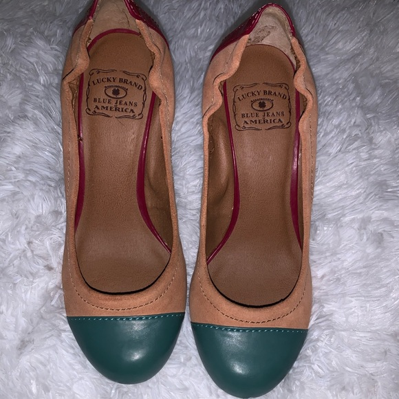 Lucky Brand Shoes - PRACTICALLY NEW LUCKY BRAND WEDGES